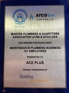 2015 Maintenance Plumbing Business of the Year