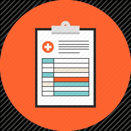 diagnosis_prescription_report_doctor_consultation_document_medical_conclusion_flat_design_icon-512